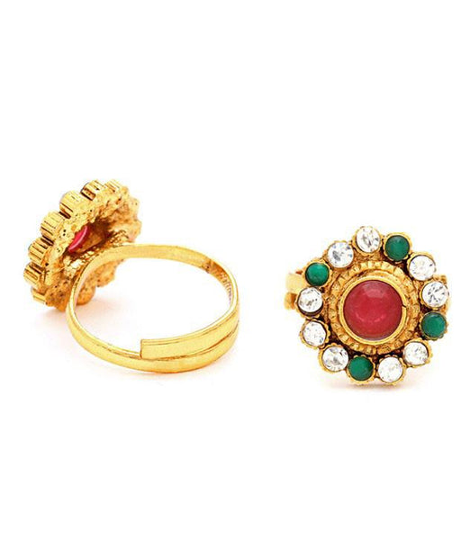 Sukkhi Gracefull Gold Plated Australian Diamond Stone Studded Toering