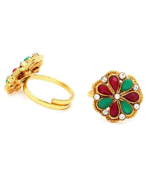 Sukkhi Sleek Gold Plated Australian Diamond Stone Studded Toering
