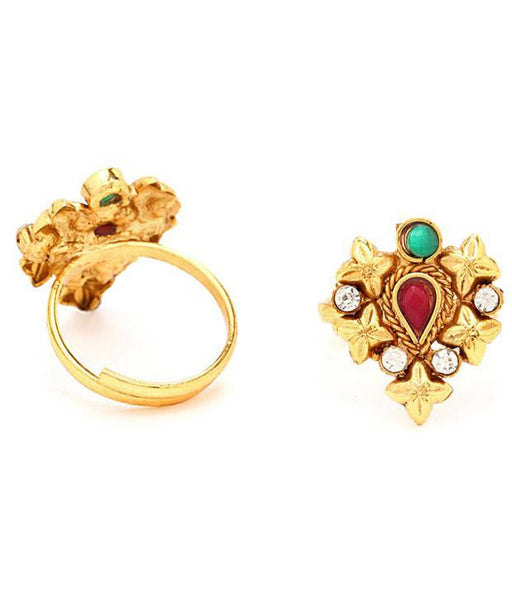 Sukkhi Magnificent Gold Plated Australian Diamond Stone Studded Toering