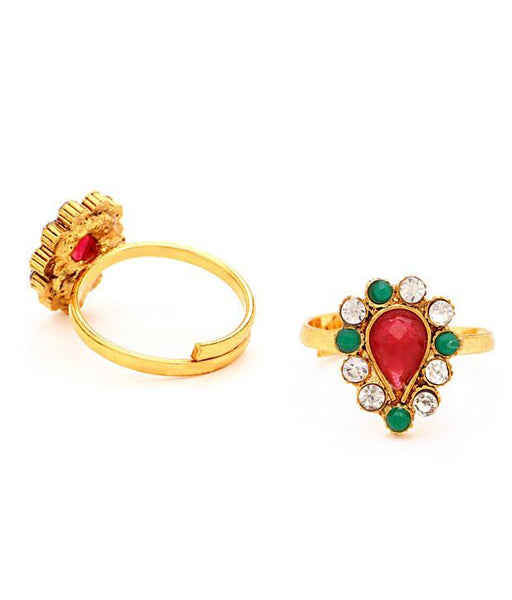 Sukkhi Glorius Gold Plated Australian Diamond Stone Studded Toering