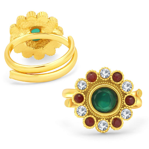 Sukkhi Delightly Gold Plated AD ToeRing For Women