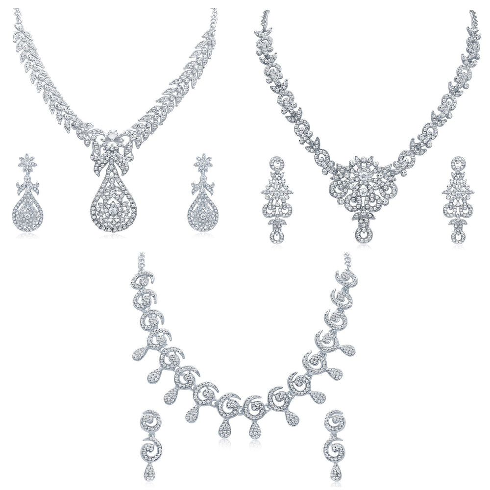 Sukkhi Exclusive 3 Piece Necklace Set Combo-4