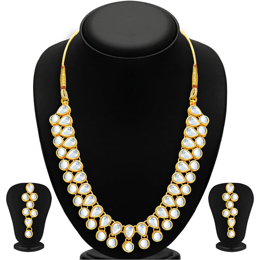 Sukkhi Creative Gold Plated Kundan Necklace Set For Women
