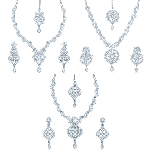 Sukkhi Graceful 3 Pieces Necklace Set Combo