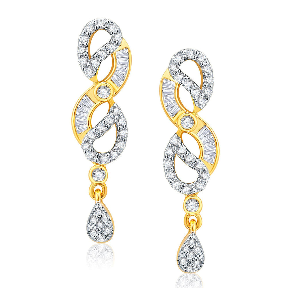 Pissara Exhilarating Gold And Rhodium Plated CZ Neklace Set For Women-2