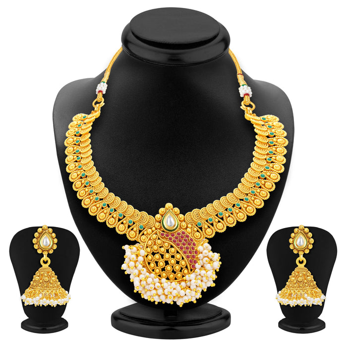 Sukkhi Excellent Jalebi Gold Plated Necklace Set For Women-1