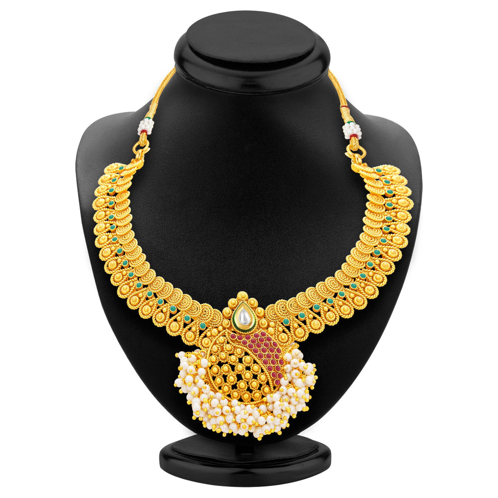 Sukkhi Excellent Jalebi Gold Plated Necklace Set For Women-3