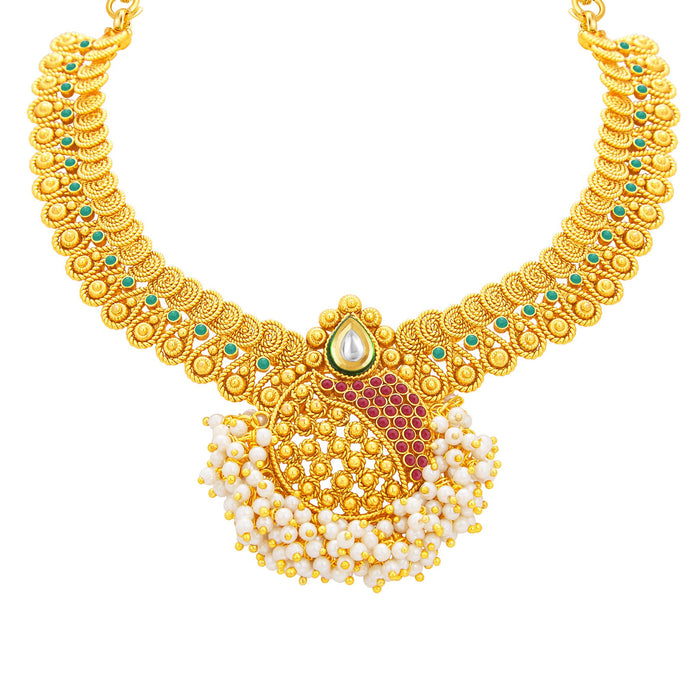 Sukkhi Excellent Jalebi Gold Plated Necklace Set For Women-2