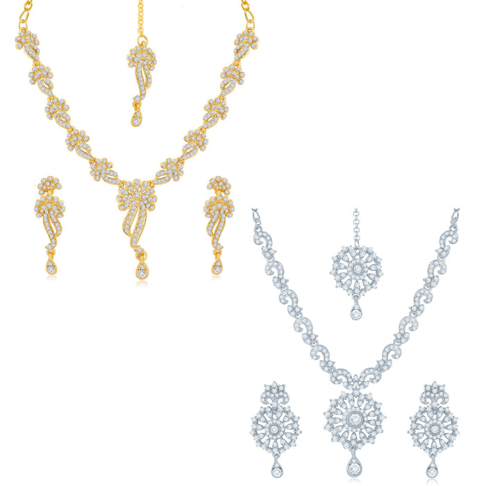 Sukkhi Blossomy 2 Pieces Necklace Set Combo