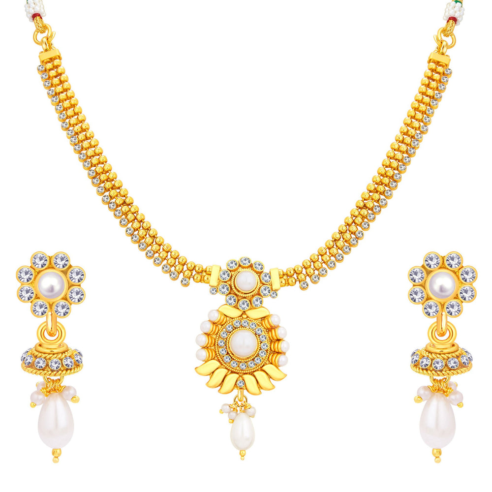 Sukkhi Divine Gold Plated Necklace Set For Women