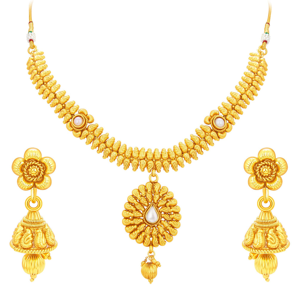 Sukkhi Classic Gold Plated Necklace Set For Women