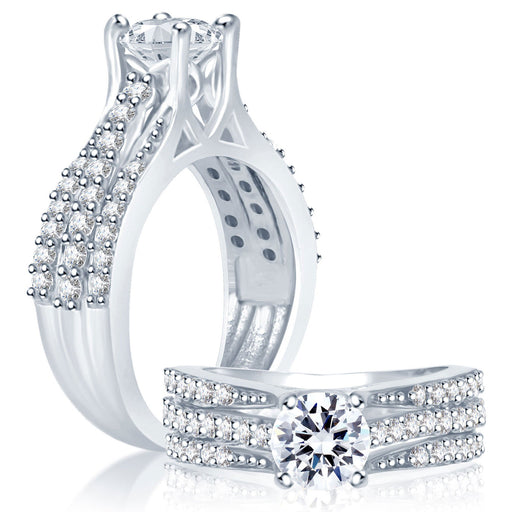 Sukkhi Artistically Rhodium Plated Cubic Zirconia Stone Studded Solitaire Ring
