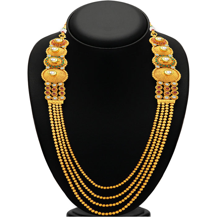 Sukkhi Exotic Four String Gold Plated Necklace Set For Women-3