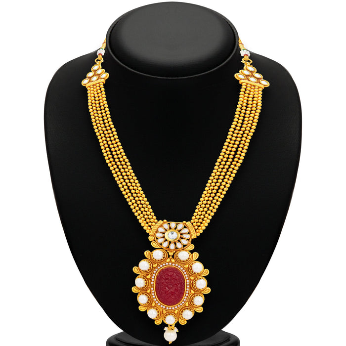 Sukkhi Excellent Invisible Setting Gold Plated Necklace Set For Women-3