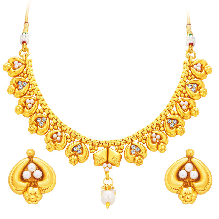 Sukkhi Delightly Gold Plated Necklace Set For Women