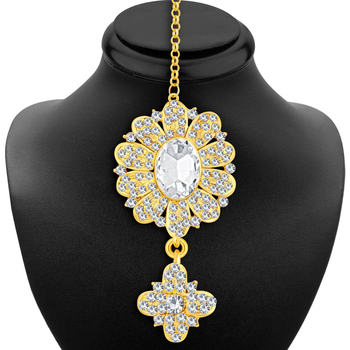 Sukkhi Ethnic Gold Plated AD Necklace Set For Women-6