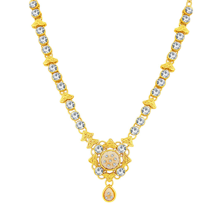 Sukkhi Excellent Gold Plated AD Necklace Set For Women-3