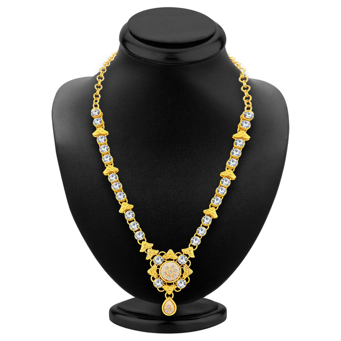 Sukkhi Excellent Gold Plated AD Necklace Set For Women-2
