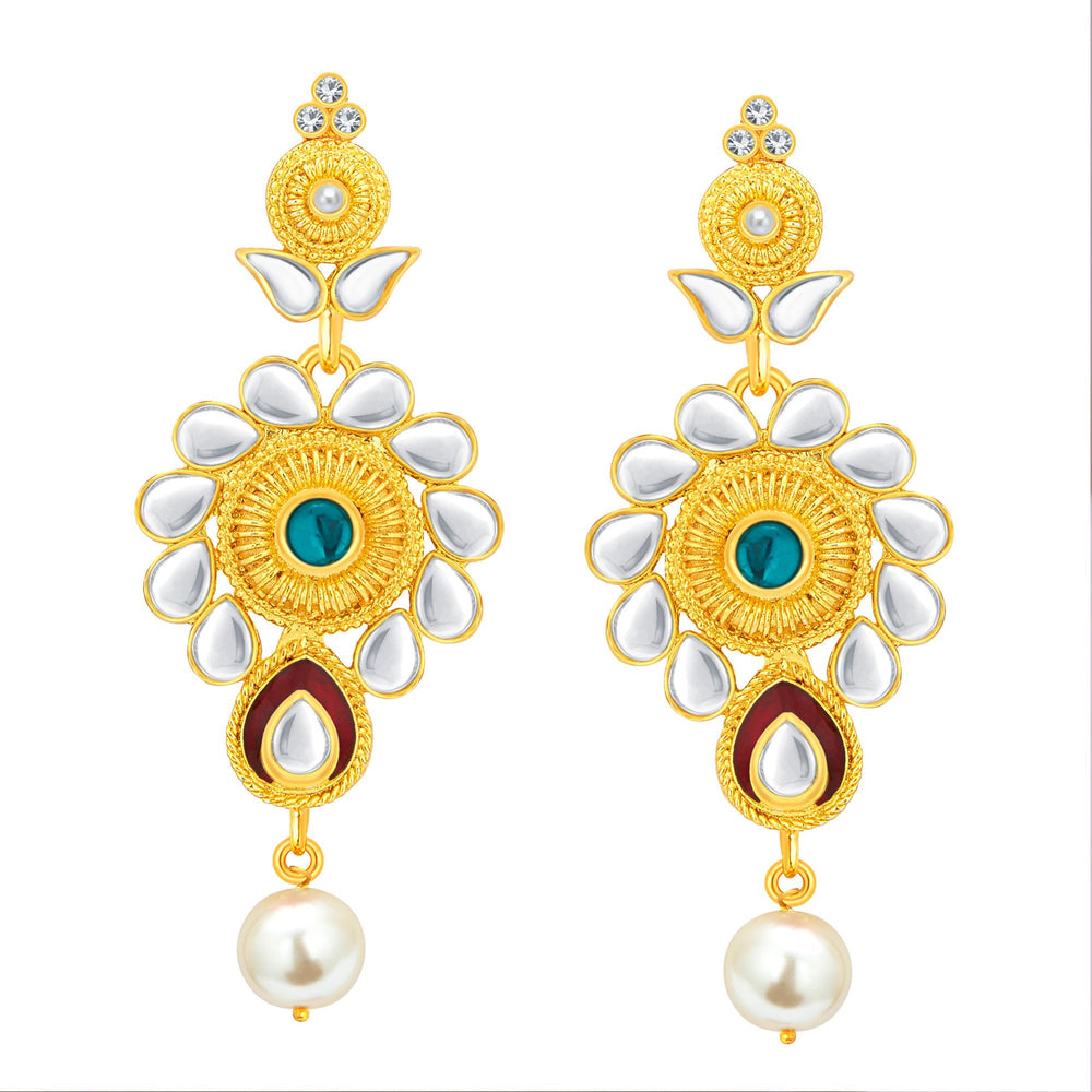 Sukkhi Exotic Gold Plated Kundan Necklace Set For Women-5