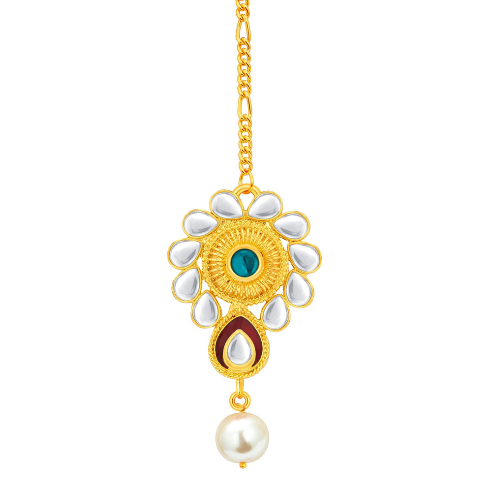 Sukkhi Exotic Gold Plated Kundan Necklace Set For Women-7