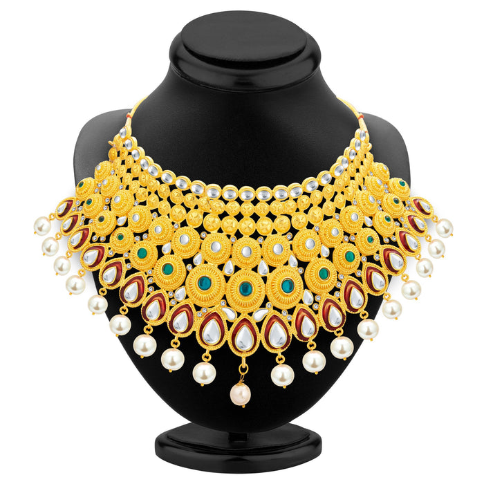 Sukkhi Exotic Gold Plated Kundan Necklace Set For Women-2