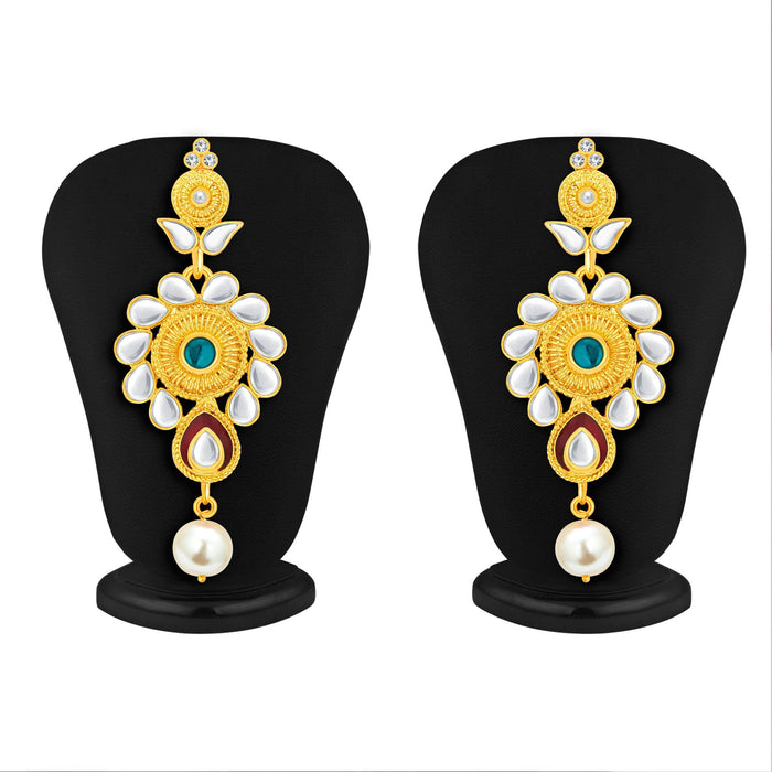 Sukkhi Exotic Gold Plated Kundan Necklace Set For Women-4