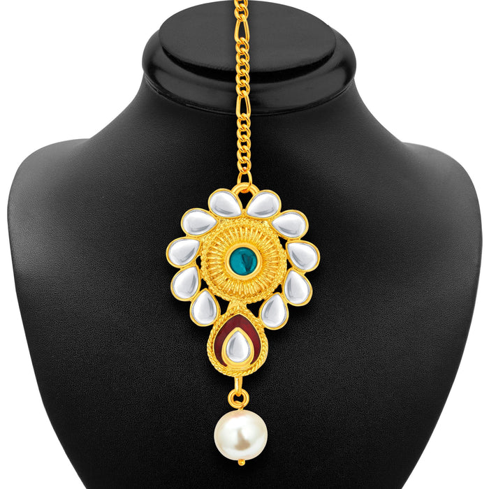 Sukkhi Exotic Gold Plated Kundan Necklace Set For Women-6