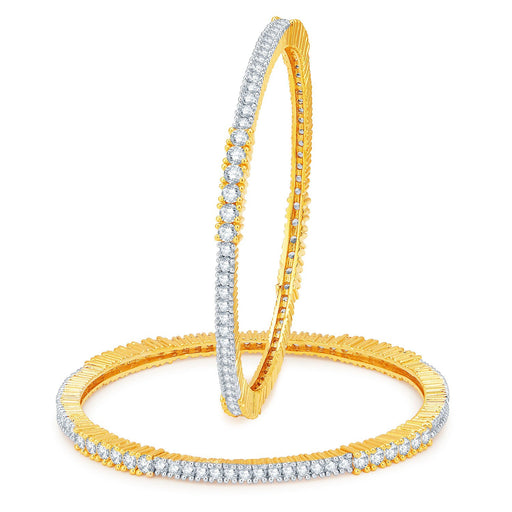 Sukkhi Enchanting Gold and Rhodium Plated CZ Bangles