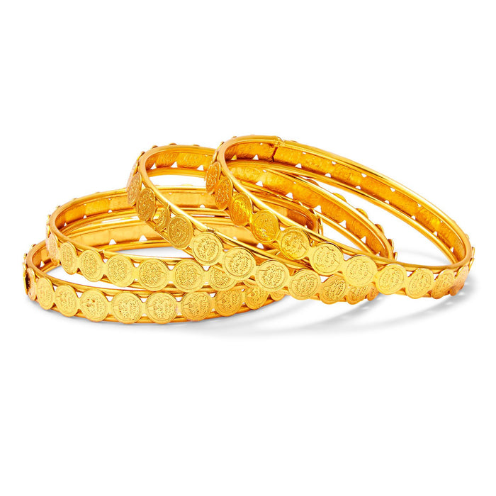 Sukkhi Glamorous Temple Jewellery Gold Plated Coin Bangle For Women - 2.4