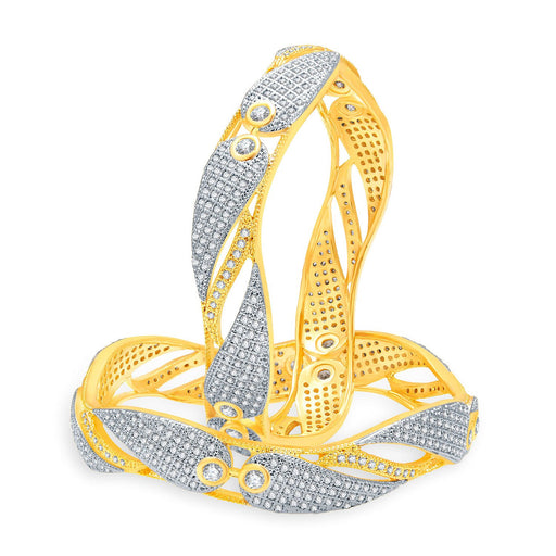 Sukkhi Attractive Gold And Rhodium Plated CZ Bangles For Women