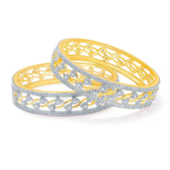 Sukkhi Gripping Gold And Rhodium Plated CZ Bangles For Women-1