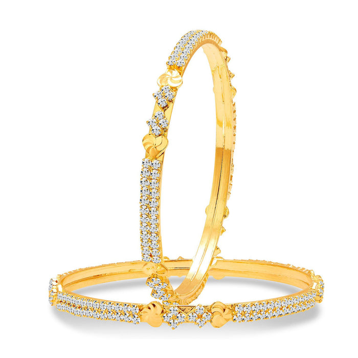 Sukkhi Ritzy Gold Plated AD Bangle For Women