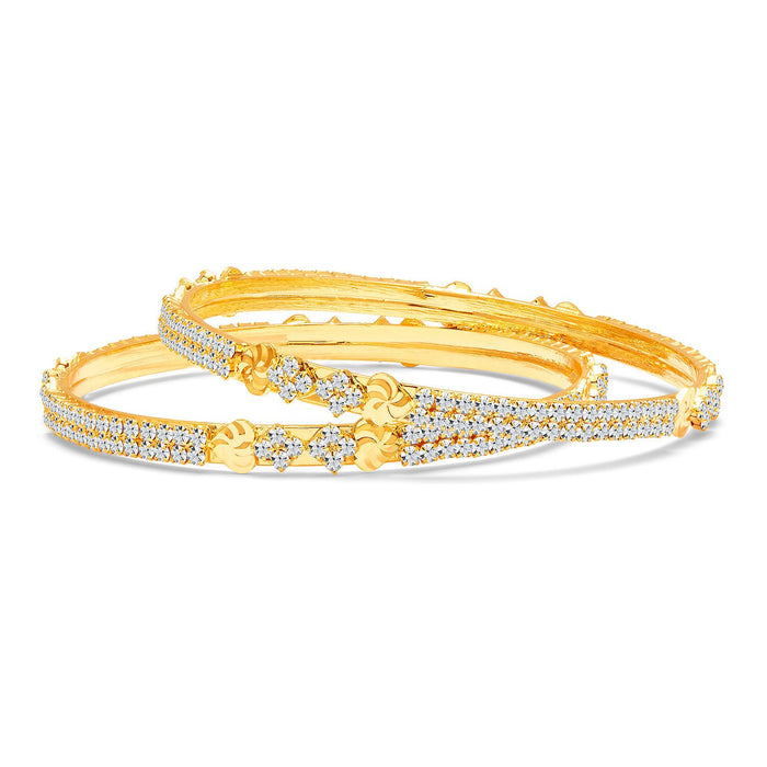 Sukkhi Ritzy Gold Plated AD Bangle For Women-1