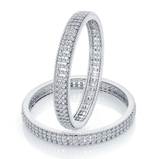 Sukkhi Marvellous Rhodium Plated AD Bangle For Women