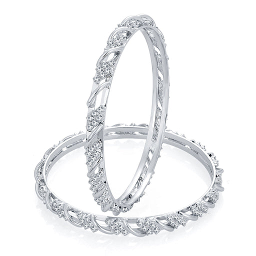 Sukkhi Designer Rhodium Plated AD Bangle For Women