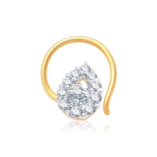 Pissara Lavish Gold and Rhodium Plated CZ Nose Pin