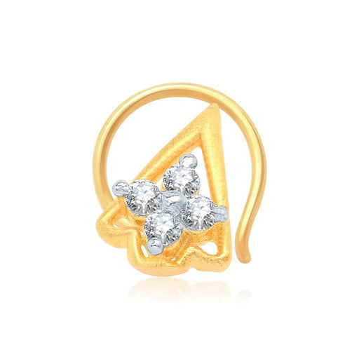 Pissara Beguiling Gold and Rhodium Plated CZ Nose Pin