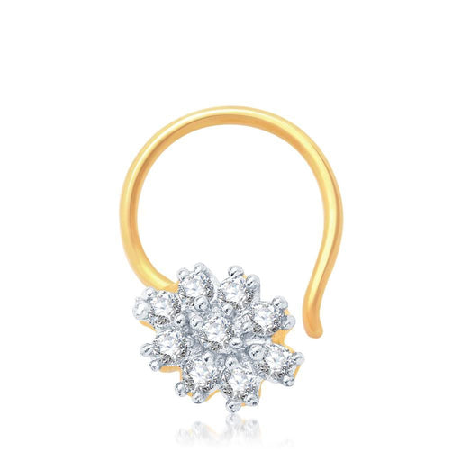 Pissara Glorius Gold and Rhodium Plated CZ Nose Pin