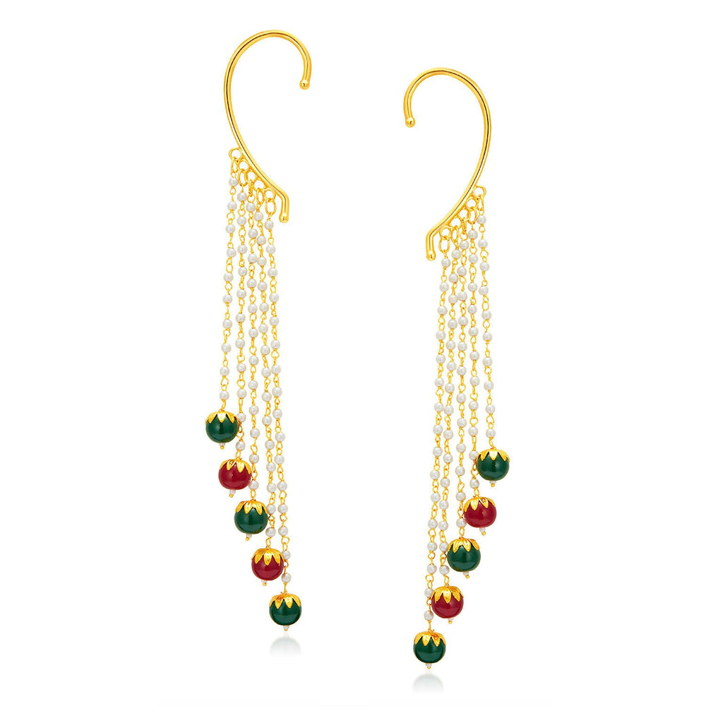 Sukkhi Splendid Gold Plated Pearl Earcuff For Women