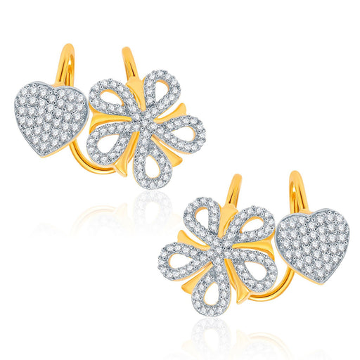 Pissara Glorious Gold And Rhodium Plated CZ Earcuff For Women