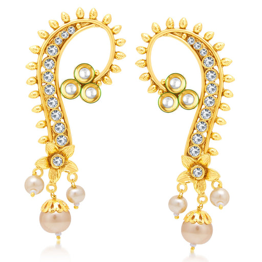 Sukkhi Fancy Gold Plated AD Ear-Cuff For Women