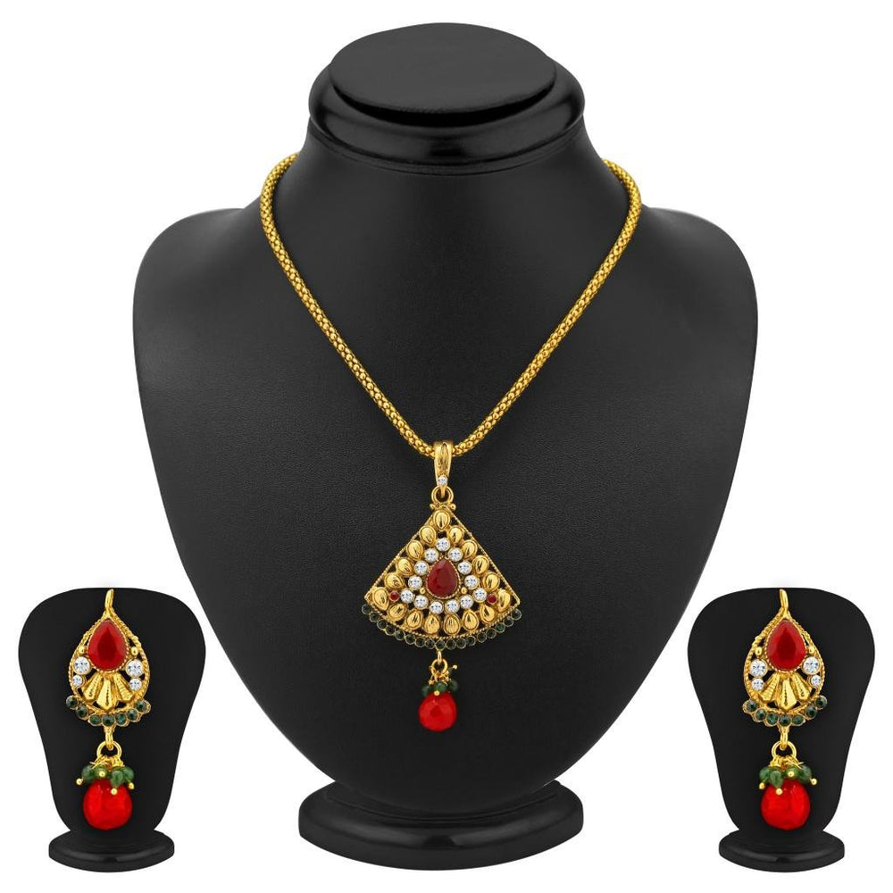 Sukkhi Charming Gold Plated Pendant Set