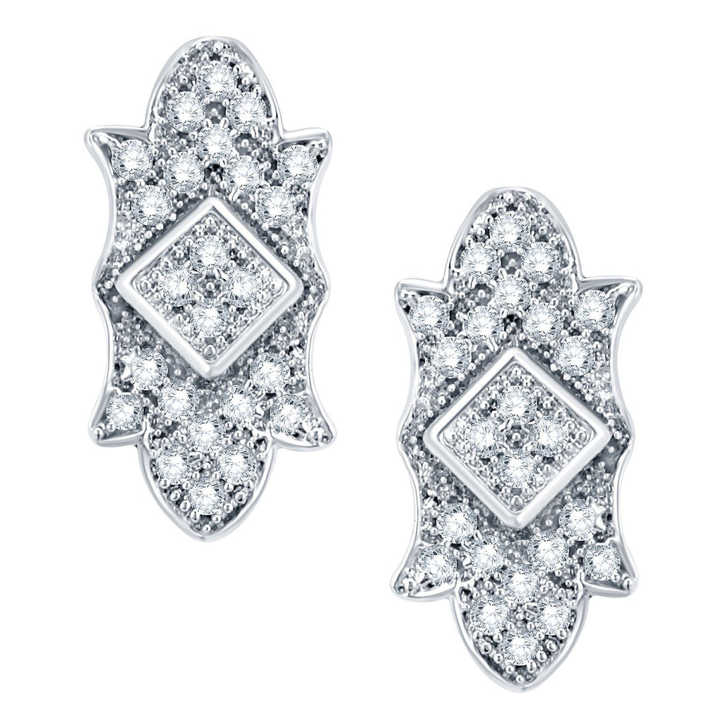 Pissara Exquisite Rhodium Plated CZ Micro Pave Pendant Set-2