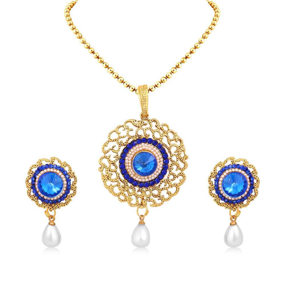 Sukkhi Divine Gold Plated Pendant Set For Women