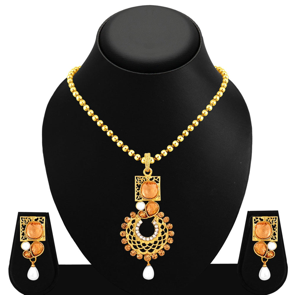 Sukkhi Excellent Gold Plated Pendant Set For Women-1