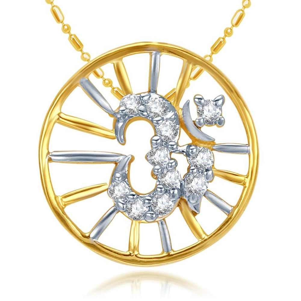 Sukkhi Cubic Zirconia Studded Om Pendant With Chain(42005Rakczk270_Gp)