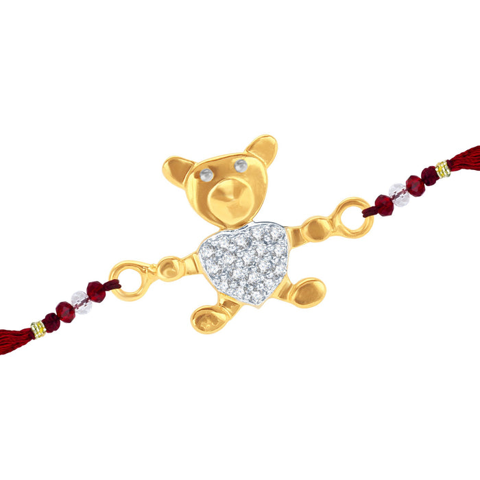 Sukkhi CZ  Studded Chutki and Teddy Bear Rakhi Combo for Kids-2