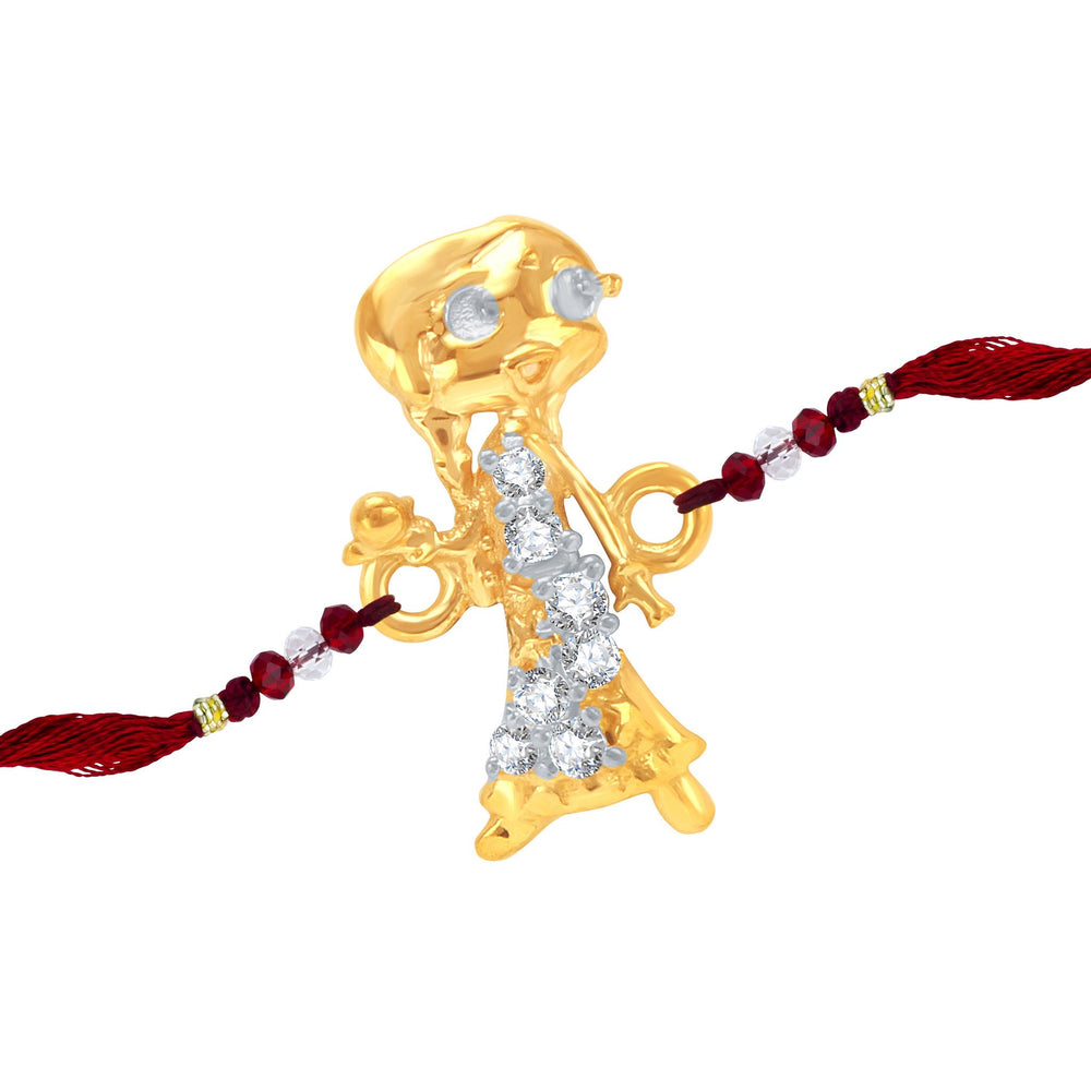 Sukkhi CZ  Studded Chutki and Teddy Bear Rakhi Combo for Kids-1
