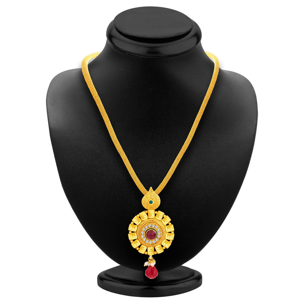 Sukkhi Ethnic Gold Plated Pendant Set For Women-3