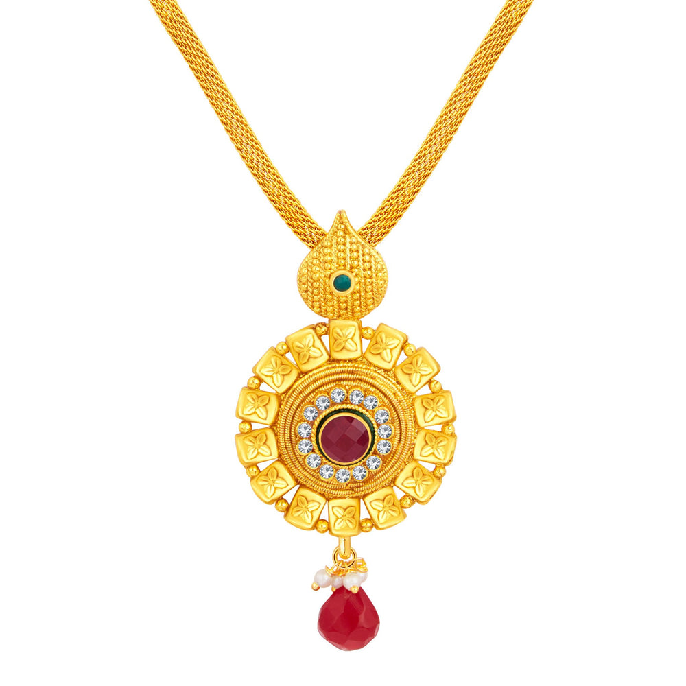 Sukkhi Ethnic Gold Plated Pendant Set For Women-2
